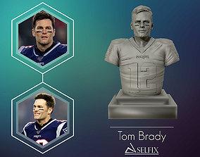 Tom Brady 3D Sculpture