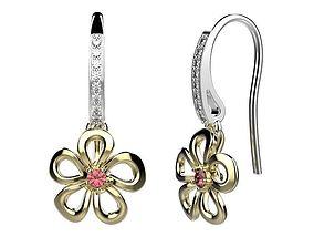 3D print model sapphire Earrings