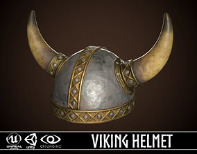 3D asset Viking Helmet 01