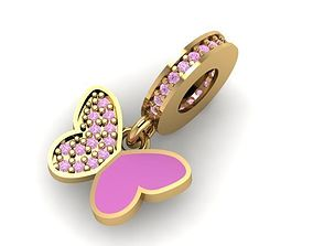 3D printable model romantic butterfly charm ball
