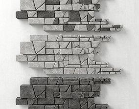 3D model Panel stone splinter Big