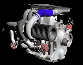 3D model Rotary Turbo Setup