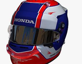 3D asset Gasly helmet 2018