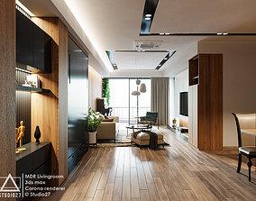 MDR Livingroom - Modern 3D Scene