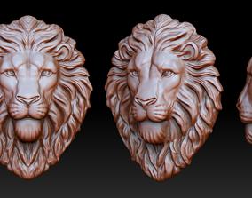 3D printable model jewellery Lion head pendant