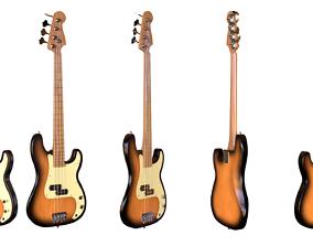 Bass Guitar 3D model audio-device