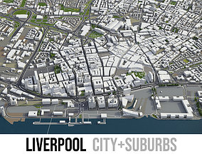3D model realtime Liverpool - city and surroundings