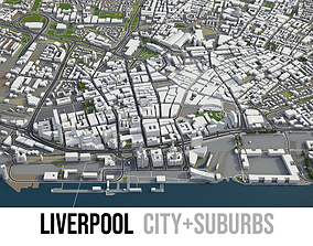 3D model Liverpool - city and surroundings