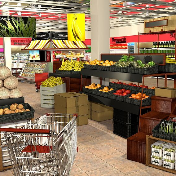 Supermarket scene