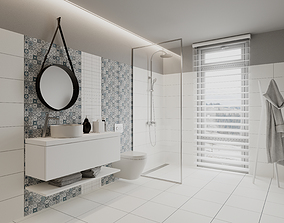 Perfect Pearl Bathroom Scene for Cinema 4D and Corona 3D