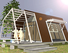 HOME at WEEKEND residential-building 3D model