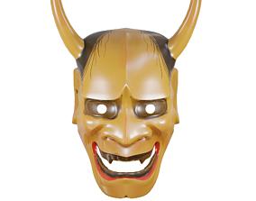 Noh Theatre Mask Japanese Hannya mask 3D