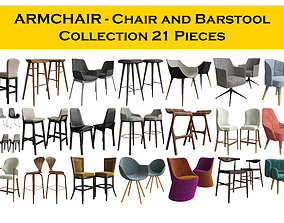 3D ARMCHAIR - Chair and Barstool Collection