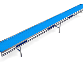 Plastic Belt Conveyor 3D asset VR / AR ready