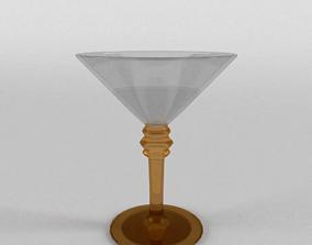 3D 1950s Martini Glass