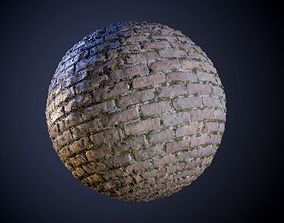 Brick Wall Seamless PBR Texture 3D model