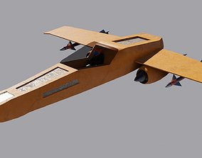 Spaceship 3D model Low-poly VR / AR ready