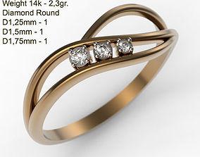 Ring MR-1 Woman Jewelery STL 3d print
