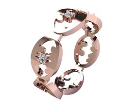 diamond-ring Fancy Design Ring 3d Model Print
