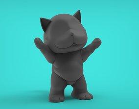 Cat Asking Cute 3D printable model