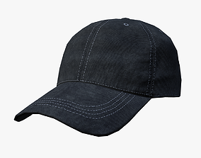 3D model Baseball cap - black
