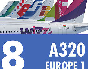 A320 Collection Eight Europe Airlines 1 3D model