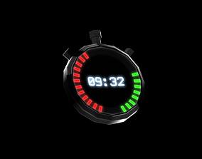3D asset low-poly Clock