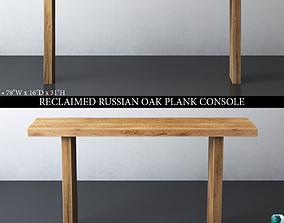 3D RH RECLAIMED RUSSIAN OAK PLANK CONSOLE