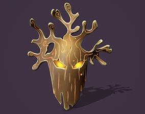 Wood mask 3D asset