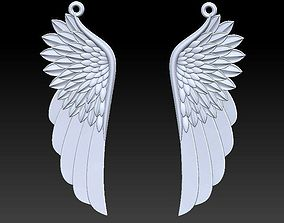 3D wing pendant