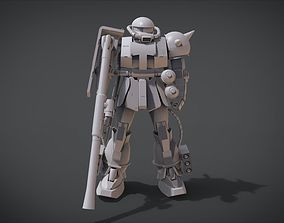 MS-06 ZAKU II 3D printable model uniform