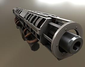 Rail Gun 3D model VR / AR ready