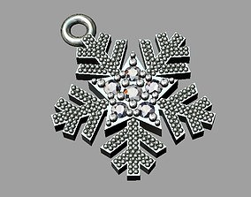 3D print model printable Snowflake Pendant