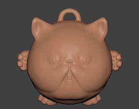 cat 3D printable model Cat Pendant