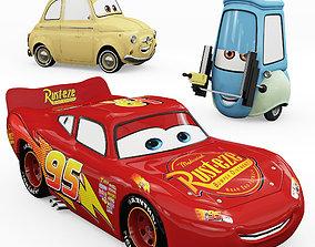 Toys Cars Lightning McQueen Guido Luigi 3D
