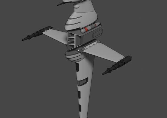 A/SF-01 B-wing starfighter - Star Wars - Fan Art