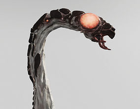Insectoid Worm monster 3D asset