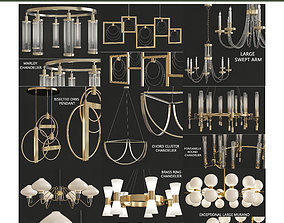 Chandeliers 3d models Collection 10 realtime