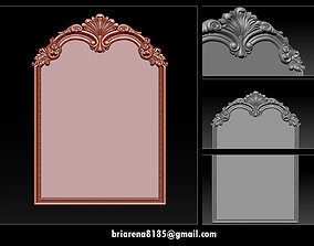 Mirror classical carved frame 3D print model