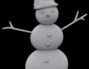 Snowman ornament 3D print model