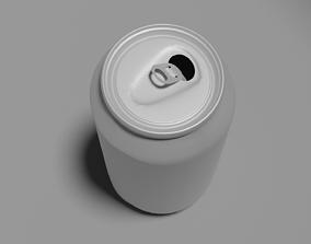 empty aluminum can 3D