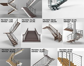 3D model classic - modern stairs