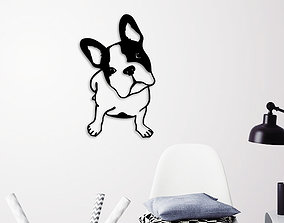 FRENCH BULLDOG WALL ART 3D printable model