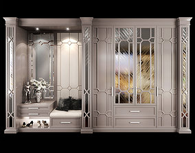 Wardrobe hallway composition 03 3D
