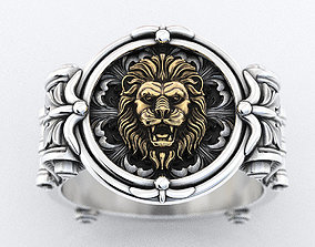 An ancient lions ring with patterns 373 3D printable model