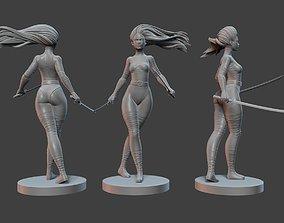 3D model Psylocke Pose 2
