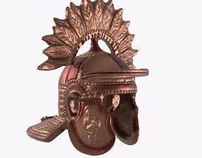 helmet warrior commander 3D asset