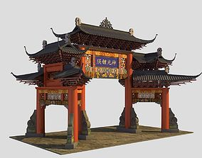 China ancient torii 3 3D
