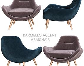 Karmello Accent Armchair 3d model realtime
