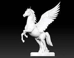 Pegasus horse wing fictional creature statue 3D